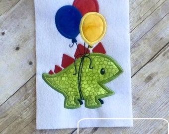Dinosaur Birthday Applique Design