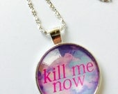 Kill Me Now Pastel Goth glass necklace