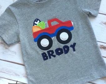 Monogrammed Easter Egg Pickup Truck Shirt