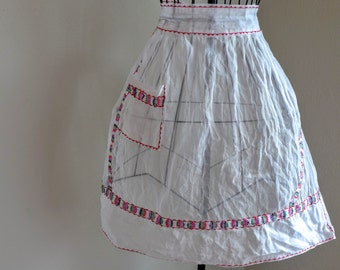 Retro Organza Apron with Mexican Flare