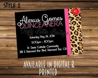 Quinceanera 15th birthday invitations