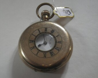 Antique Gold Plated Half Hunter Buren Pocket Watch