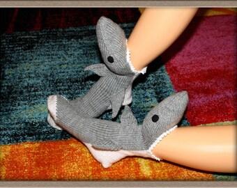 Hand knitted socks shark /Size: EU 42-43/