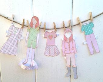 Color PDF Paper Doll Set Jennifer & Chestnut   girl and horse