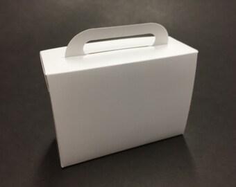 Suitcase Favor Boxes Suitcase Boxes Suitcase Favors Destination Wedding Travel Suitcase Small White Plain 25 Included