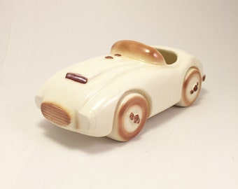 Rare 1956 Car Ceramic Planter.  Made in Santa Ana, CA.  Awesome!!