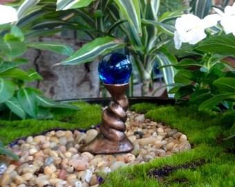 Deep Ocean Blue Fairy Gazing Ball