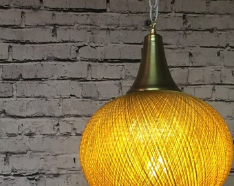 Gold Pendant Hanging Light Round