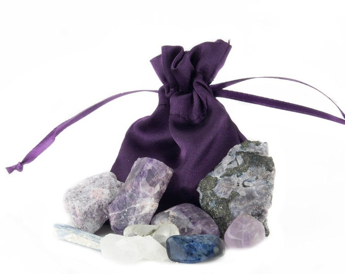 Third Eye Chakra Healing Kit Yoga, Meditation, Crystal Healing, and Reiki