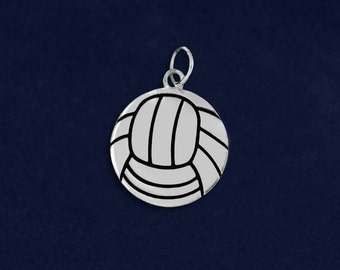 Wholesale Volleyball Shaped Charms (10 Charms) (C-03-SPV)