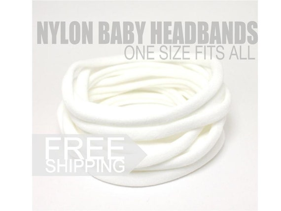 Nylon Headbands / Wholesale Spandex Headband / Skinny Very Stretchy One Size Fits most Nylon