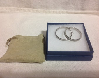 925 Sterling Silver Hoops with Sterling Silver Pave