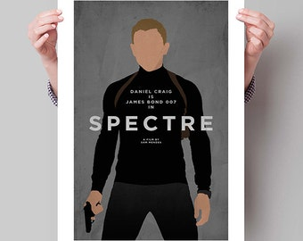 "JAMES BOND Inspired Spectre Minimalist Movie Poster Print - 13""x19"" (33x48 cm)"