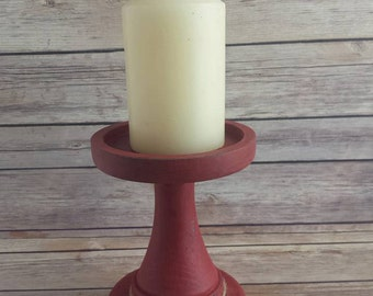 Red Candle Holder Jewelry Holder, Eco friendly READY TO SHIP