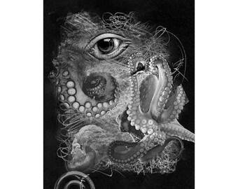 Sea Life #11, Inkjet print  7x9 image on 11x14 archival paper