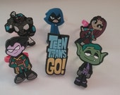 Teen Titans Go! Rings Party Favors Cupcake Toppers 6 Pieces