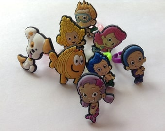 Bubble Guppies Rings Party Favors Cupcake Toppers