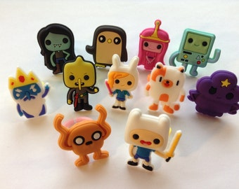 Adventure Time Rings Party Favors Cupcake Toppers!