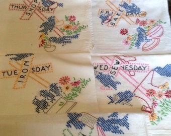 Days of the week towel set