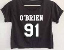 Dylan O'Brien Shirt Crop Top clothing womens ladies teens clothing