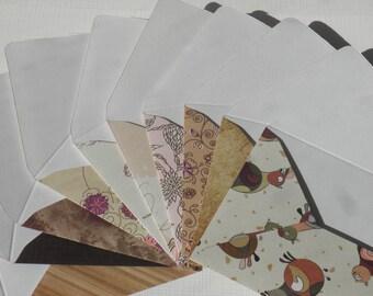 Ensemble de 10 enveloppes Mini avec cartes de correspondance, Passion pour le vintage