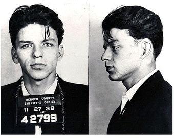 Frank Sinatra Mug Shot Horizontal - Giclee Print