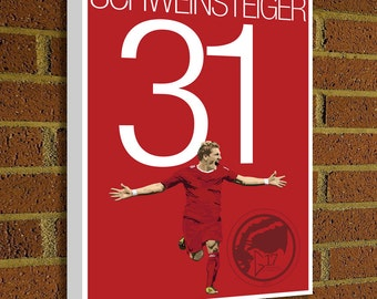 Bastian Schweinsteiger Canvas Print - FC Bayern - Germany Soccer Poster- Pick Your Size poster art, wall decor, bayern munich canvas