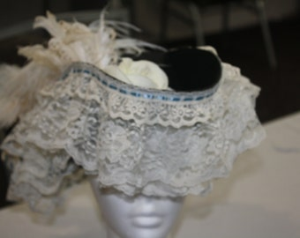 Womens Tri-Corner Lacy Pirate Hat