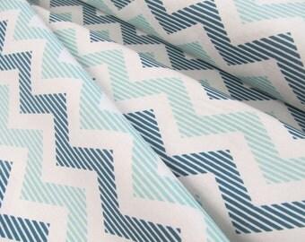 School Days - Chevron(Blue) - Zoe Pearn - Riley Blake Designs