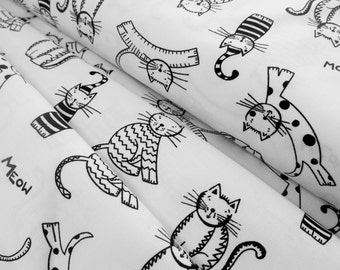 The Cat's Meow - Spaced Cats - Ink & Arrow Fabrics - Quilting Treasures
