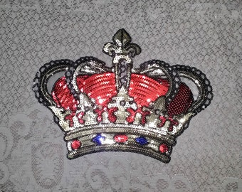 Crown sew on patch applique DIY decoration accessories applique 18cm*27cm