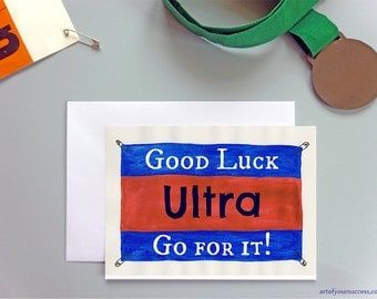 Good Luck Ultra Run card, running card