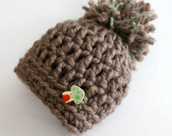 Baby hat crochet, newborn hat, crochet baby beanie, baby beanie pom pom crochet