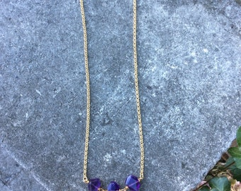 Gold plated amethist necklace