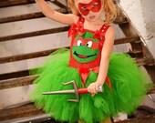 TMNT Inspired Tutu Dress....costume, tutu set, birthday, halloween