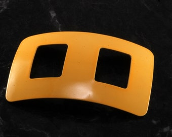 Vintage 60's Nemo Scarf Sash Buckle Rectangle Yellow Accessory New Old Stock