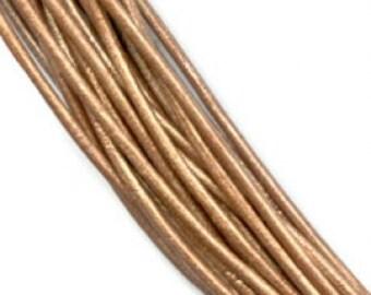 Genuine Leather cord 1mm Metallic Bronze
