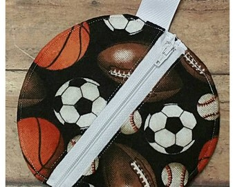 Pacifier pouch, Binky bag, Paci pouch, Sports theme, Accessories pouch, Nursery design idea, Babyshower gift idea, Expecting dad gift