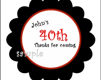 12 Personalized 30,40,50, 60 birthday stickers, Gift, Stickers, Present, , Labels, Seals, Kids, Children
