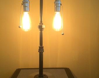 Steampunk 2-bulb lamp