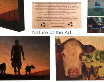 Photo image transfer on reclaimed wood Art