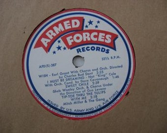 Rare! - Armed Forces Records - Nat King Cole & Various Artist - 1970's
