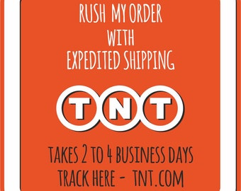 Expedited Shipping, Rush My Order, I need it now! 2 to 4 business days. Express delivery. Fast shipping. Next day shipping.Upgraded shipping