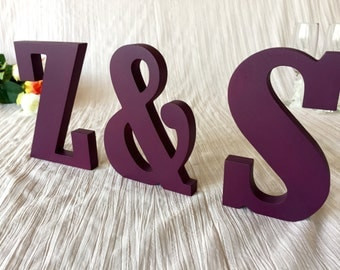 wedding  signs couple's initials - wooden letters for wedding, bridal table letters, wedding ceremony and reception decoration