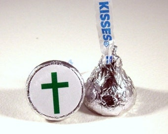 Christian Cross, Hershey Kiss Stickers, Religious, Jesus, Christmas, Stickers, Party Favors, Small, Envelope Seals, 108 Stickers