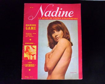 Vintage French erotic magazine Nadine La Revue Du Couple D'Aujourd'hui collectible adult magazine No 9 from 1974