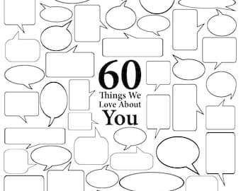 60 Things We Love About You - Vector Art