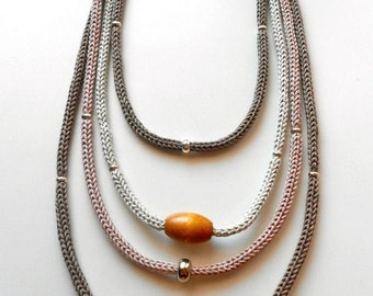 Beige Necklace and Tricot