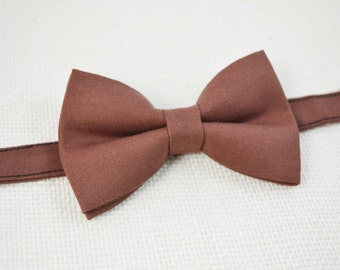 B115 Mocha Bow Tie For baby/Toddler/Teen/Adult/with Adjust strap/Clip on