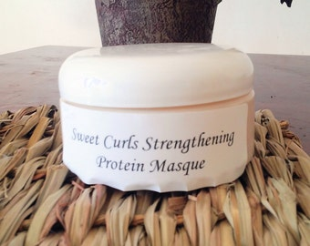 Sweet Curls Strengthening Protein Masque, normal strength, 8 ounce